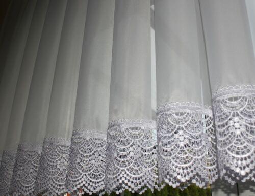 Hochwertige Exklusive Gardine VOILE Store mit Plauener Spitze nach Maß