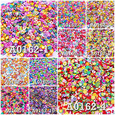 Lot of Fimo Clay Slice DIY Nail Art Decoration Styles Pattern UPICK Craft A0162