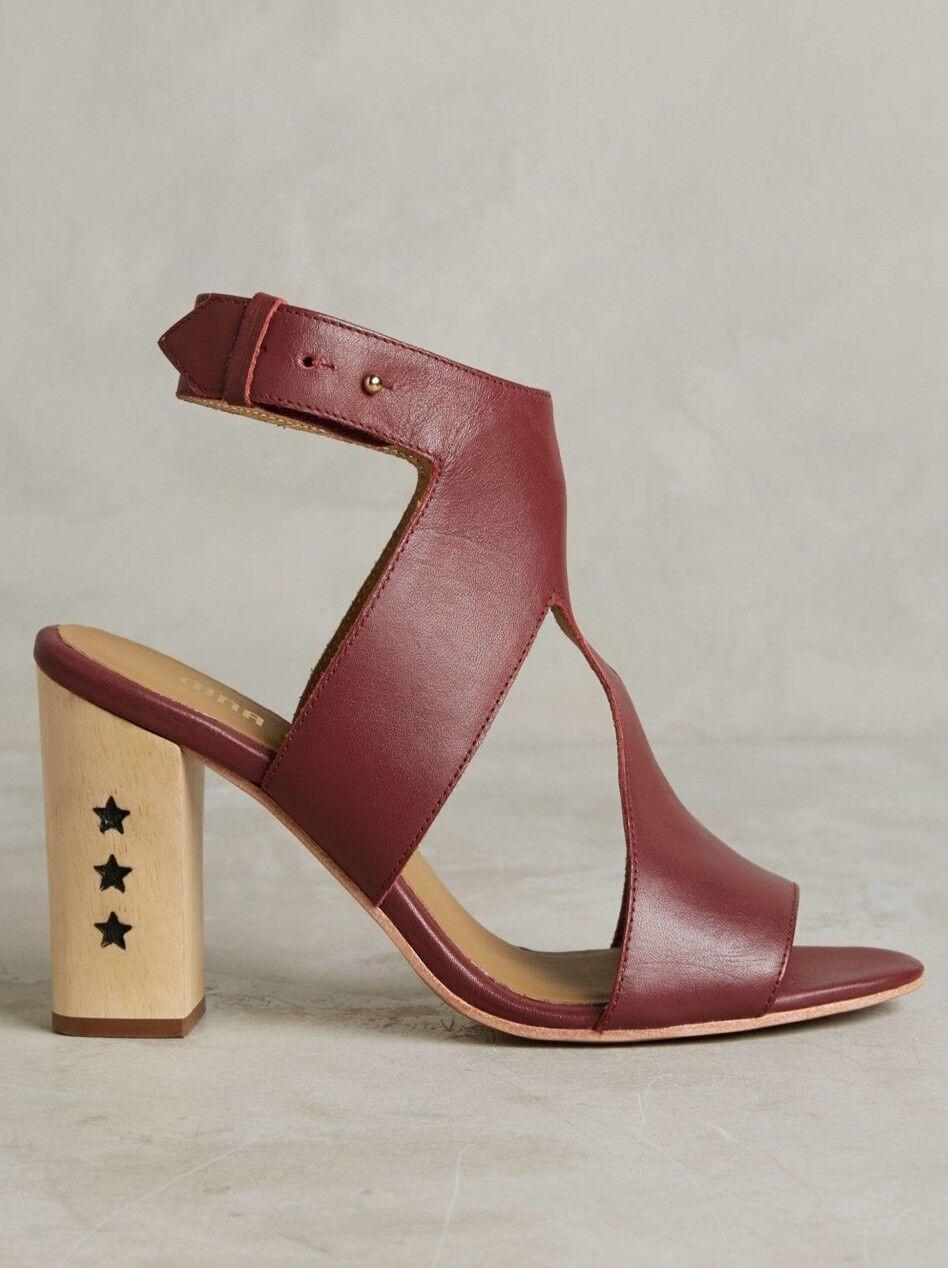 NEW Anthropologie Izzy Star Heels Size 37 Open Toe Sandals