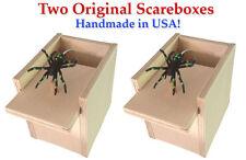 2 SPIDER SCARE BOXES Scarebox Prank Funny Gift Hilarious Christmas Scary Joke