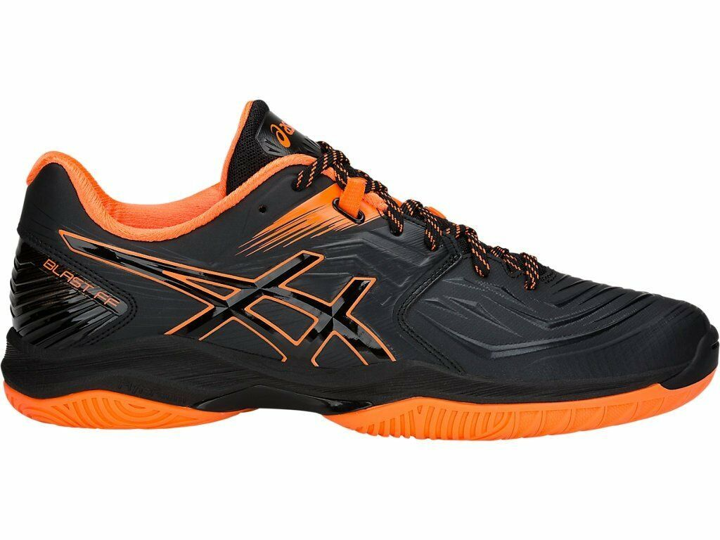 Asics Blast FF Black orange Men Badminton Indoor shoes 1071A002-001