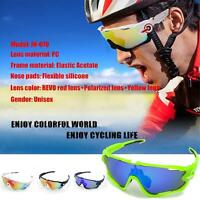 Vogue Cycling Goggles Outdoor Glasses Sports Sunglasses Bicycle Three Lens Uv400