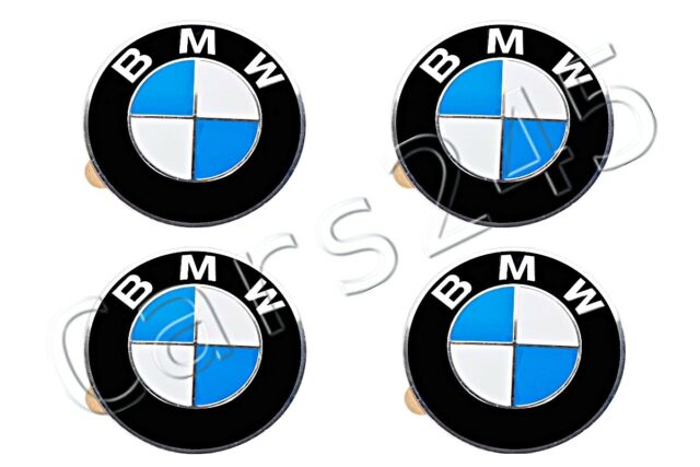 BMW Genuine Badge Light Alloy Wheel Self Fix Sticker Emblem 70mm 36136758569