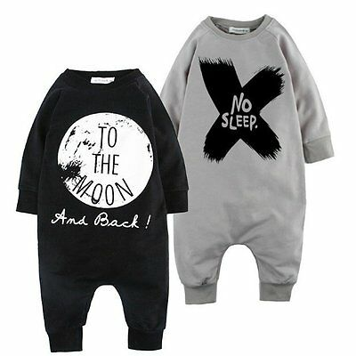 Newborn Baby Boy Warm Infant Long Sleeve Romper Jumpsuit Bodysuit Clothes Outfit
