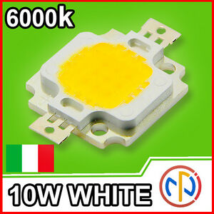 CHIP-POWER-LED-10W-12V-Bianco-Naturale-6000-6500K-Alta-Luminosita