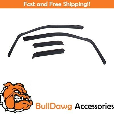 EGR 572551 Dark Smoke In-Channel Window Visors Set of 4 for Ram 1500// 2500// 3500