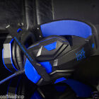 Surround Stereo Gaming Headset Headband Headphone USB 3.5mm Mic LED for PC