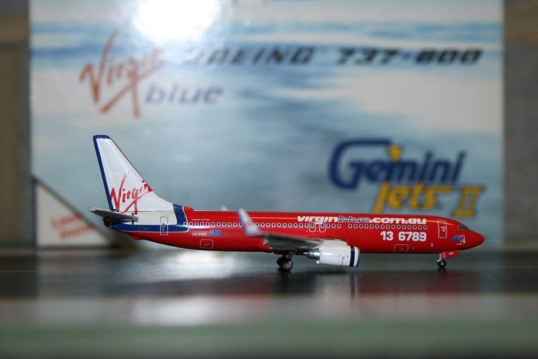 Gemini Jets 1 400 Virgen blu Boeing 737-800 VH-vog (gjvoz 560) Fundición Modelo