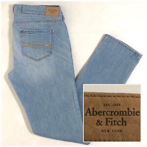 Talla 6 31x29 Abercrombie Fitch Para Mujer La Luz A F Tela De Jeans Jeans Pantalones Ajustados Ebay