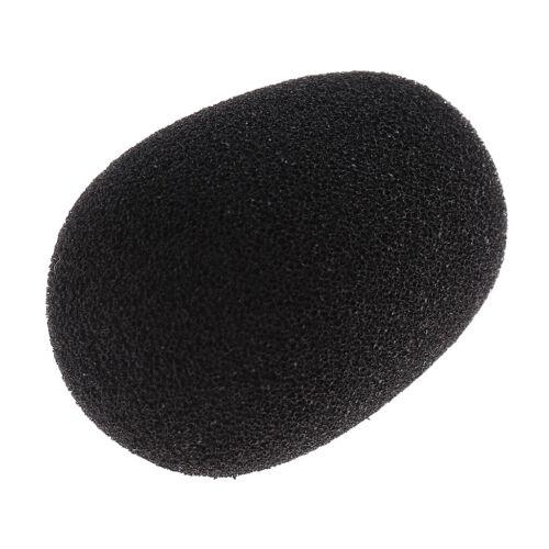4 Stück kleines schwarzes Mikrofon Headset Revers Grill Windschutzscheibe