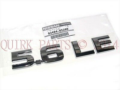 "2004-2010 Nissan Titan   Chrome ""5.6 LE"" Rear Nameplate Emblem Badge OEM"
