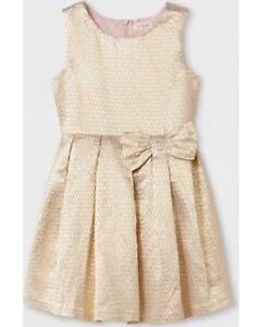 Girls-039-Jacquard-A-Line-Dress-Cat-amp-Jack-Gold-XL-14-16-NWT
