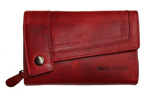 Hill Burry Leder Damen Portmonnaie Geldbörse 3698 breit Prime Quality rot