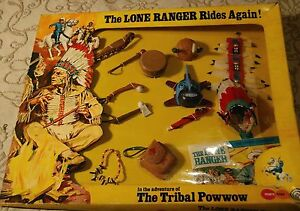 the lone ranger vintage 1970's rare toy the tribal powwow with box