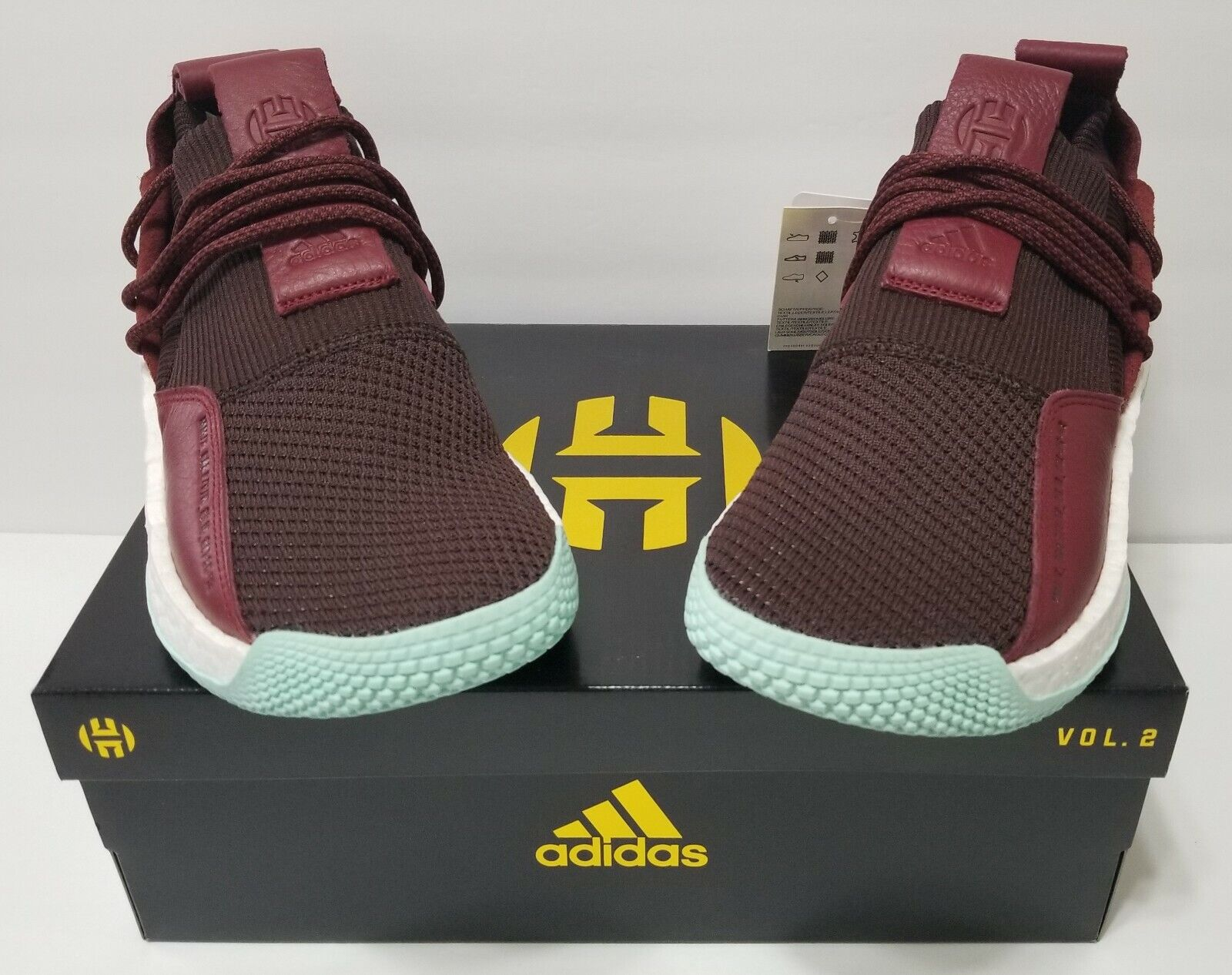 NEW ADIDAS HARDEN LS 2 LACE CG6277 MENS SZ 12 Red Maroon Clear Mint James