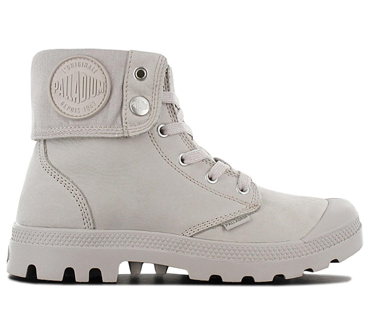 Palladium Pampa Baggy NBK Stiefel 76434-075 Leder Grau Schuhe Stiefel Freizeit NEU