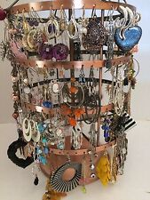 50 pairs wholesale dangle hoop studs earring mixed lot fashion bulk for resale-7