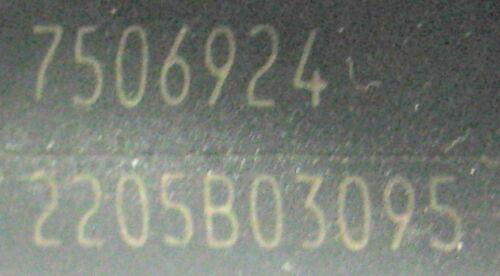 Buse d/'injection siemens Deka 7506924 BMW 545 I 645 I 745 I nettoyé /& examiné