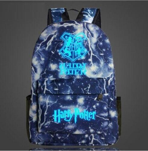 New Harry Potter Hogwarts Luminous School Student Backpack Book Bag Cosplay HOT