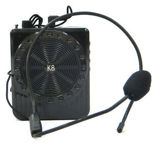 Megafono-amplificatore-voce-5W-microfono-mp3-USB-microSD-K8-guide-turistiche
