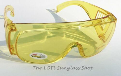 New Large Size Fits Over Glasses Night Driving Glasses Safely See at Nite 5083nd