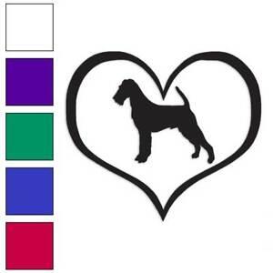 Heart Scottish Terrier Dog Love Decal Sticker Choose Color Size #1512