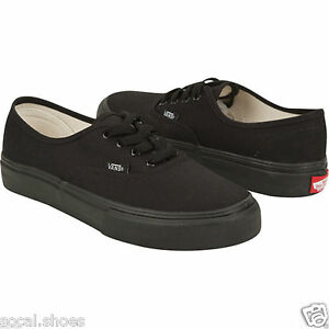 VANS CLASSIC AUTHENTIC ALL BLACK BLACK MONO MEN S ATHLETIC SHOES NEW ... b1ba4dd79
