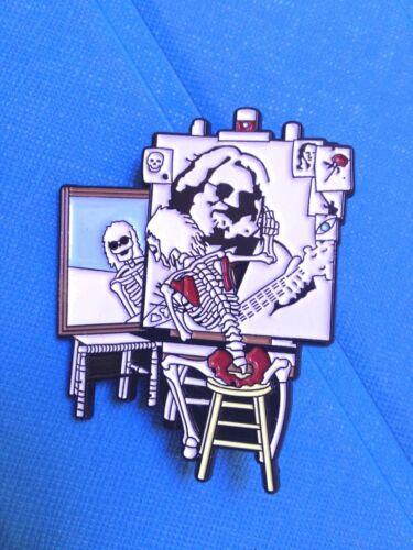 10 GRATEFUL DEAD DEAD HEAD SELF PORTRAIT 2 inch CLOISSONE PIN 1980's ERA ART