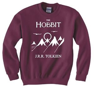 HOBBIT-LORD-OF-THE-RINGS-FRODO-BOOK-COVER-SWEATSHIRT-NEW