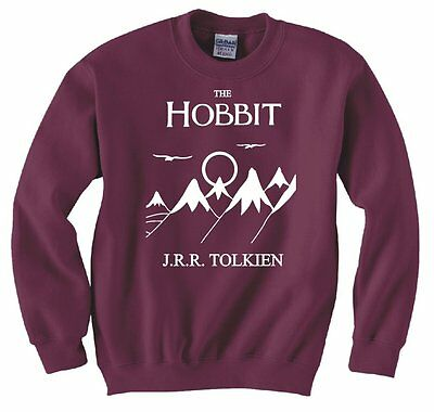HOBBIT, LORD OF THE RINGS, FRODO, BOOK COVER SWEATSHIRT NEW