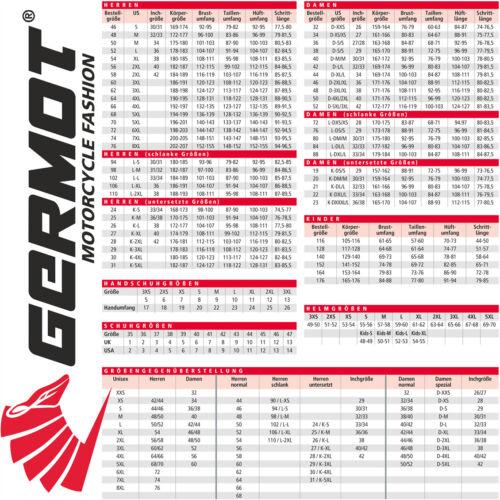 Germot Casco Integrale GM 320 NERO OPACO BIANCO grande campo visivo ECE 22.05 S 55//56