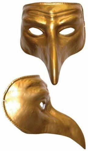 Gold Humour Fancy Dress Masques