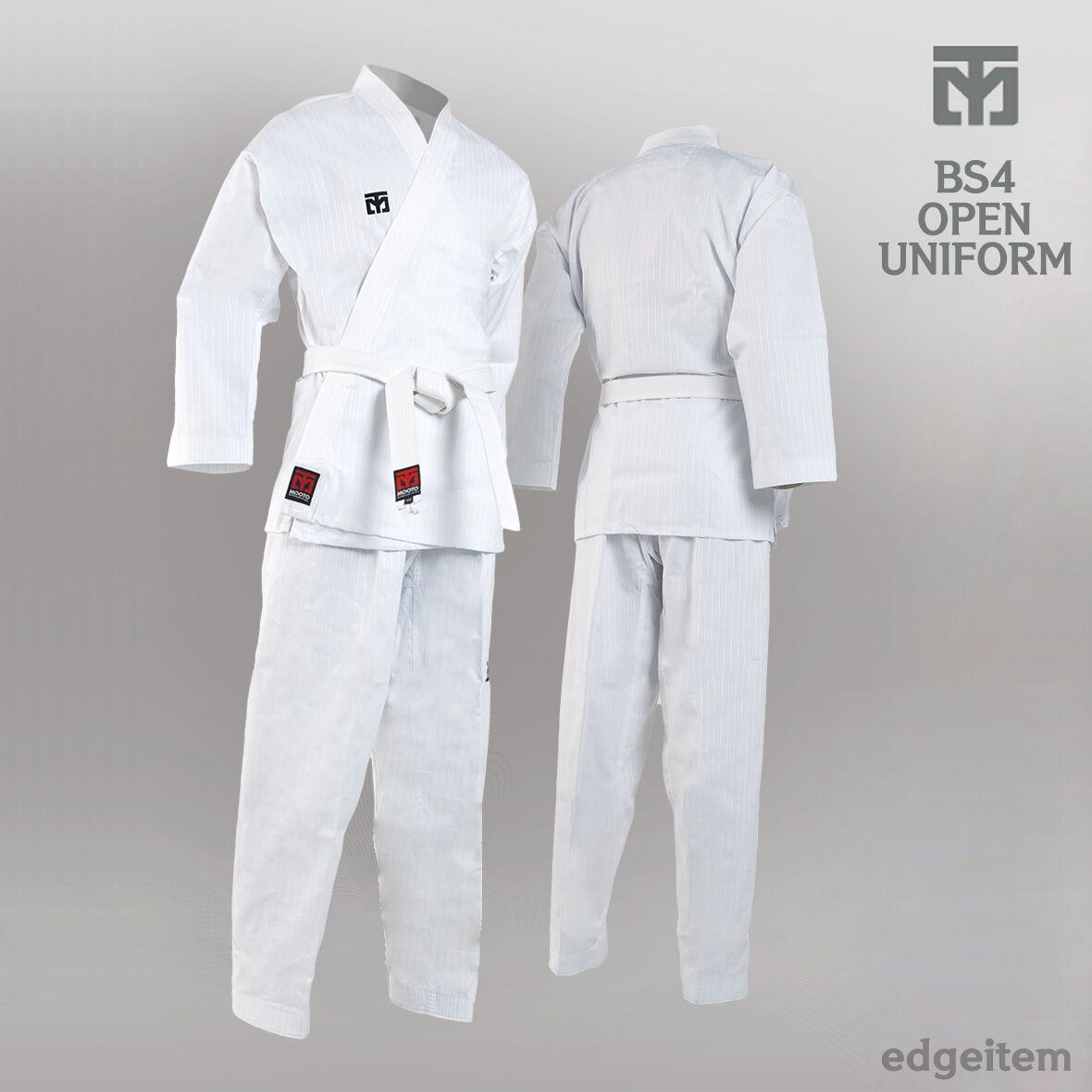 Mooto bs4 blanco Open dobok base, temporada 4, taekwondo unificado