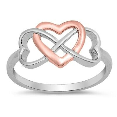 Polished Simple Flat Promise Heart Love Ring New .925 Sterling Silver Band Sizes 4-10