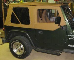 1997 2006 jeep wrangler replacement canvas top upper skin rear windows spice ebay. Black Bedroom Furniture Sets. Home Design Ideas