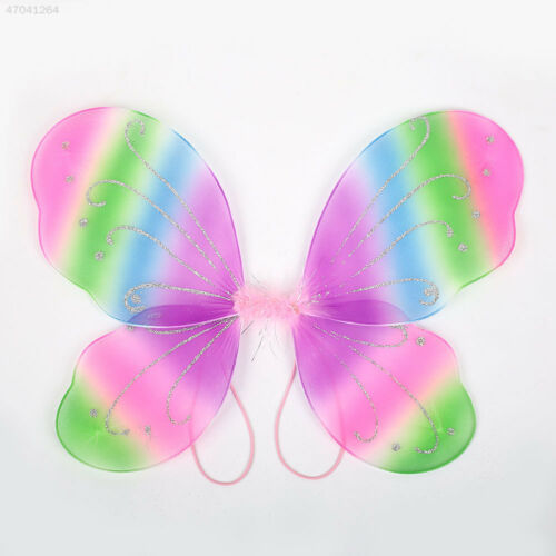 2E86 Adult Butterfly Wings Fairy Dress Up Costume Gift Photo Props Decor 3C5A