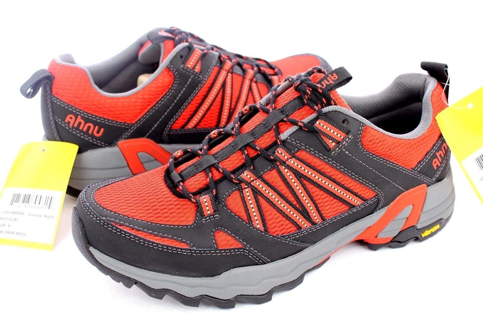 AHNU rosso CLAY verdeBRAE WATER-PROOF TRAIL TRAIL TRAIL RUNNING scarpe Dimensione 9 US 3ac173