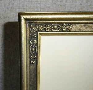 "Antique Vintage Gold Picture Frame Arts & Crafts Deco Style  8"" by 10"" Photo"