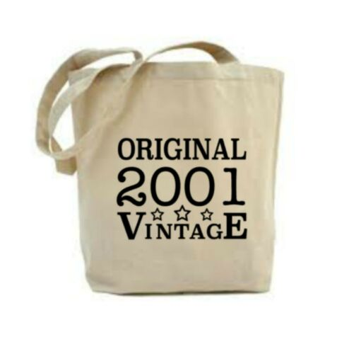 18th Birthday Gift Idea For Her 2001 Gift 18th Birthday Tote Bag Canvas Bag