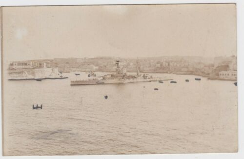 HMS Ramilles Royal Navy in Egypt c1921 real photo postcard