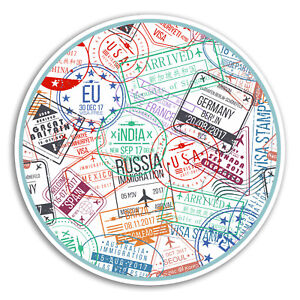 2-x-10cm-Passport-Stamps-Vinyl-Stickers-Travel-Sticker-Laptop-Luggage-18344
