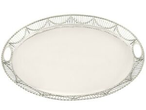 Antique George V Sterling Silver Galleried Tray Sheffield 1913