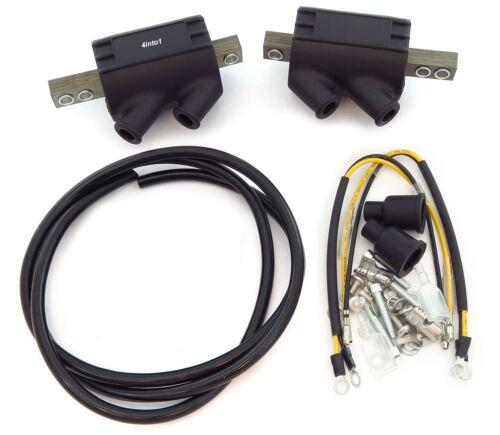 2 Magna High Output Coils /& Wire Kawasaki KZ550//650//650B//650C KZ750B 3 ohms