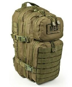 ELITE FIRST AID Tactical Trauma Kit #3 STOCKED w/ Backpack Medic Survival ODG+