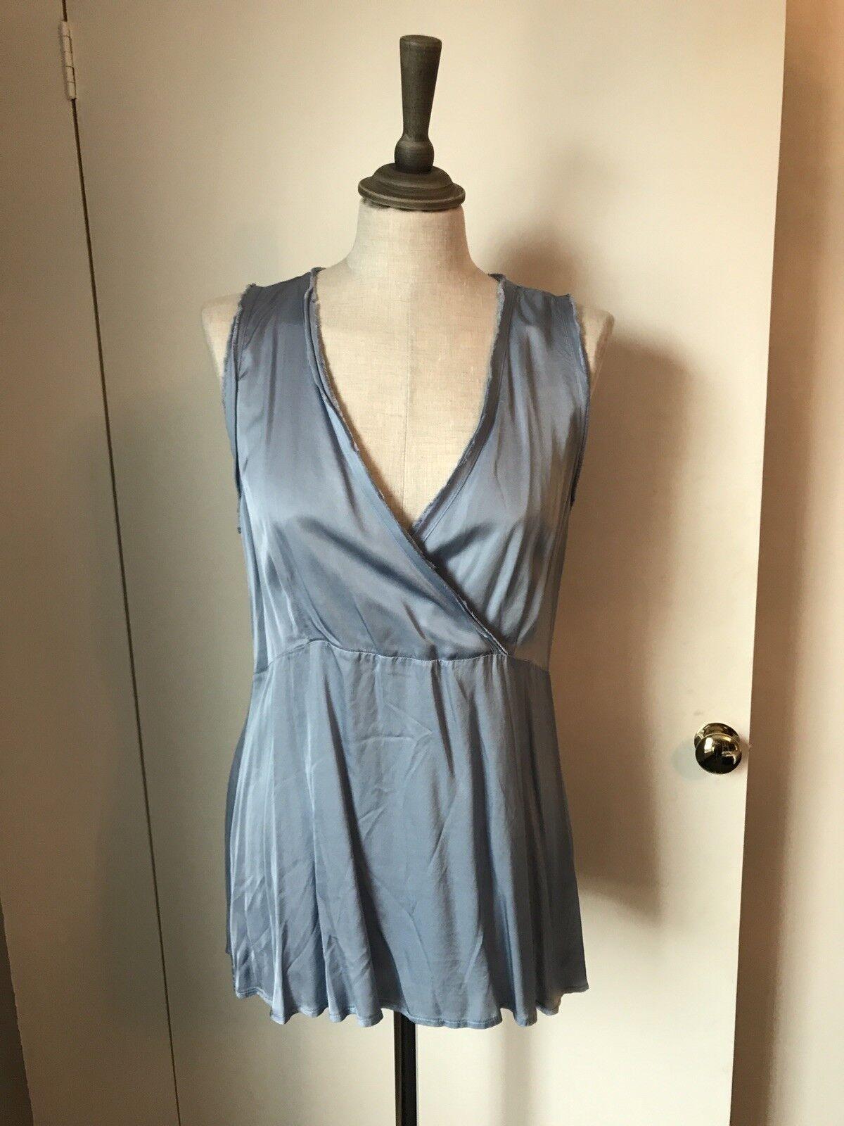 Lauren Vidal Beautiful bluee Silky Top Small BNWT