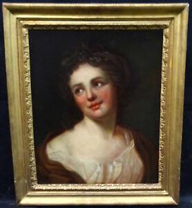 Portrait-de-femme-Epoque-XVIIIeme-Ecole-Francaise-Huile-toile