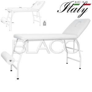Portarotolo Per Lettino Massaggio.Dettagli Su Lettino Massaggi Manu Bianco 1 Snodo Con Portarotolo Massaggio Lettini Estetista