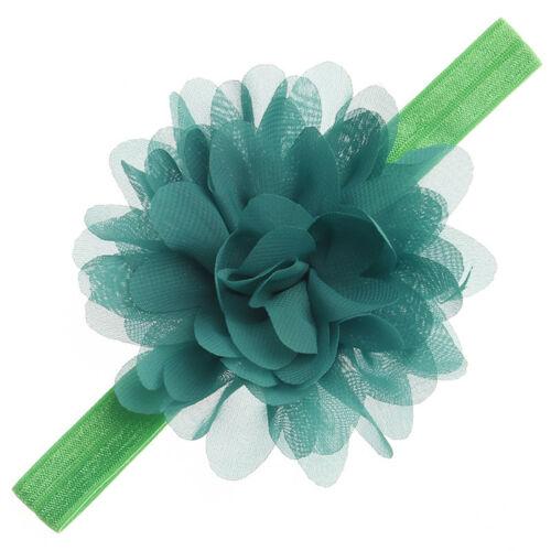 Newborn Headband Baby Girls Toddle Chiffon Flower Headwear Hairband Infant Gift