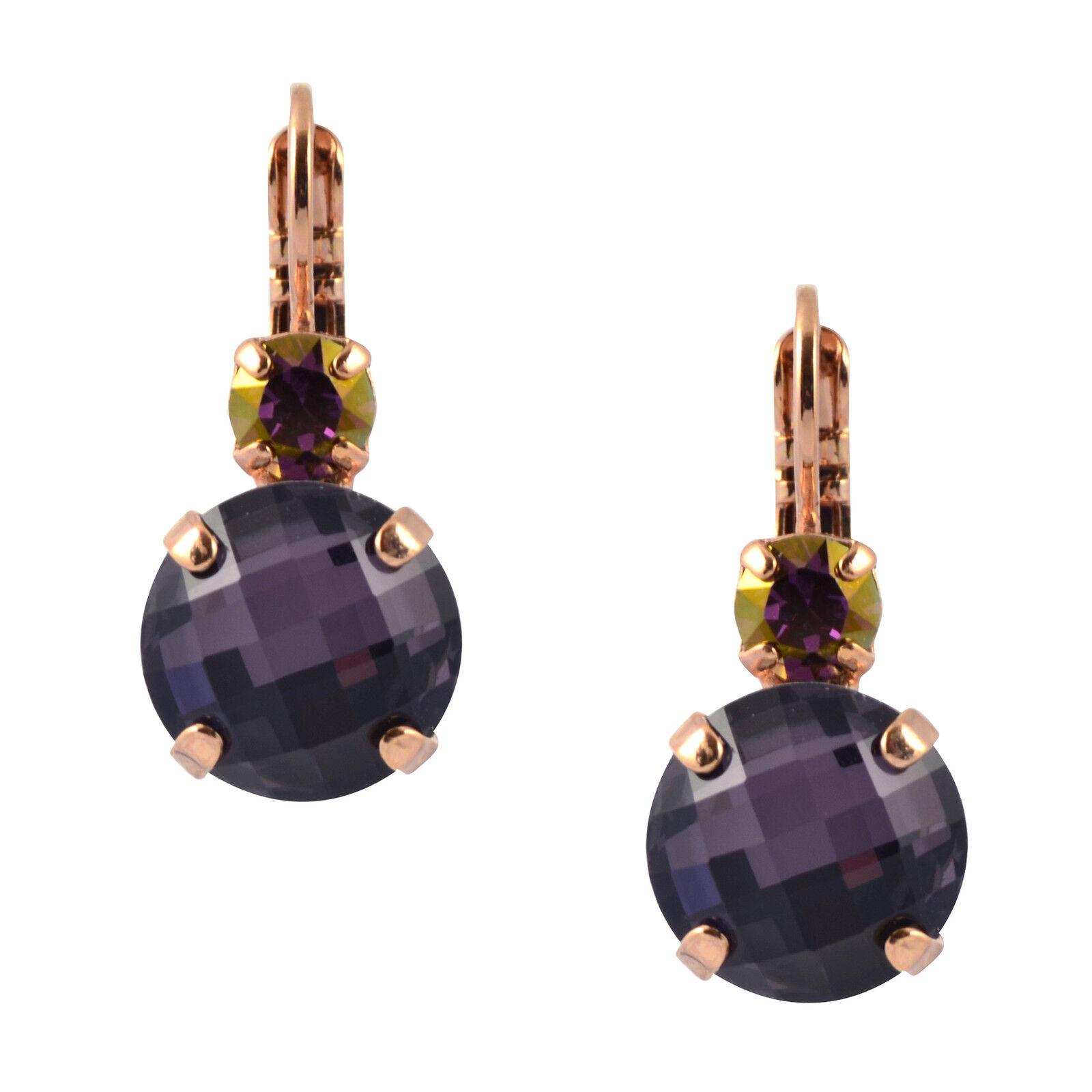 MARIANA  Bohemian Rhapsody  pink gold Plated Round Drop Earrings 1037 1072