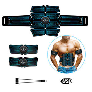 8-Pads-ABS-Stimulator-Abdominal-Muscle-Trainer-Toner-Belt-EMS-Training-Gear